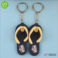 Travel items Promotional giveaways 3d logo pvc key ring