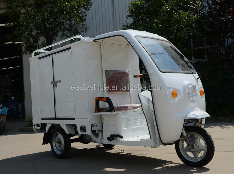 three wheel adult cargo bike electric vehicle tricycle used with passenger seat for delivery