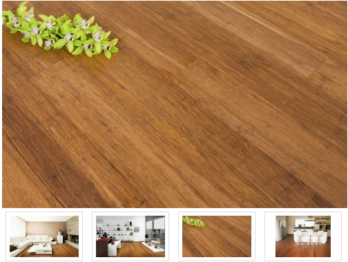 14mm FSC Click Bamboo Flooring manufacturer Cold press Coffee Color Hardwood Champagne Color Bamboo Floors