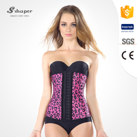 S-SHAPER Leopard Corset Hot Latex Waist Trainer Wholesale