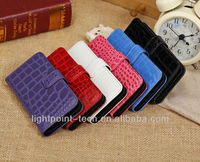 Crocodile Skin Grain With Stand Function wallet pu leather case for iphone5c supplier