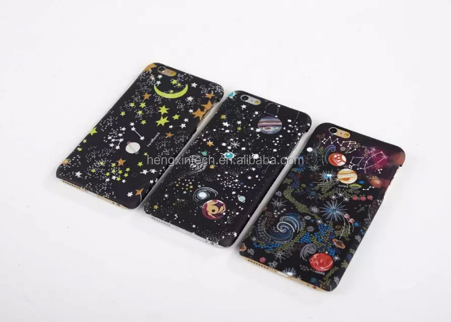 Luxury Starry Sky Glitter SLIM Frosted Phone Cover Dimensional Stars Case for iPhone6s/6splus/6/6plus/5/5s