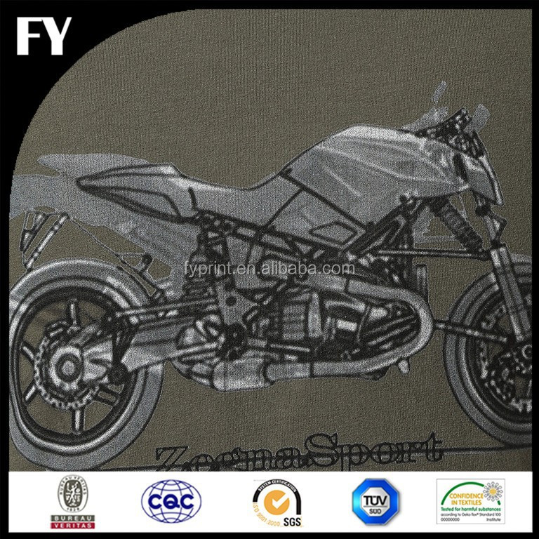 Factory high quality digital motorcycle print fabric