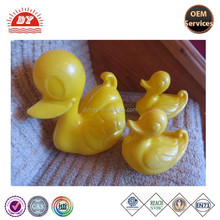 ICTI certificated make custom blow mold animal bath toy children washing education toy plastic ducks family