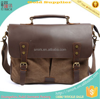 KB180701 Fashion Canvas Genuine Leather Outdoor Bag
