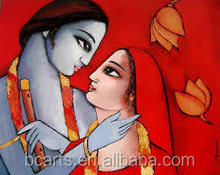 Classical Indian Women Oil Painting From Professional Artist