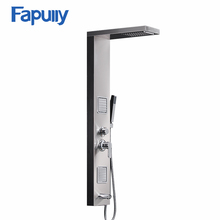 Fapully Rainfall Shower Panel Tower Rain Massage System Faucet with Jets & Hand Shower, AND Tub Spout