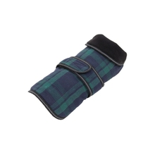 Latest design superior quality polyester green/dark blue plaid pet coats for dogs