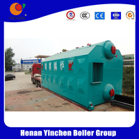 carbon steel material double drums solid fuel boiler horizontal styel biomass boiler for sale