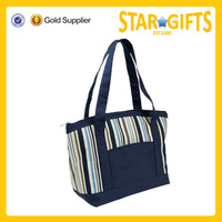 grocery food eco friendly cool 600D polyester insulated tote bag