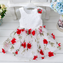 2016 new style baby child dress child baby wedding party dress printed evening dress for children