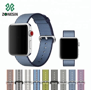 Hot Sale Multi Color Sport Nylon Watch Wrist Band Extenders With Custom Packing For Apple Watch