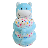 custom soft cute baby blanket with toy