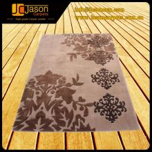 Alibaba Express Custom Carving Flower Wool Hand Tufted Carpet