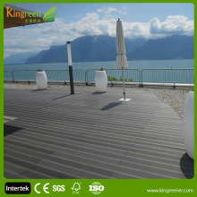 Outdoor water proof UV resistant wpc solid wood flooring, gym basketball flooring decking