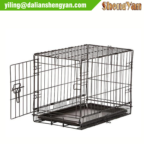 Cheap metal dog kennel with bottom tray
