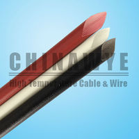 Silicone rubber insulation fiberglass braid cable sleeve
