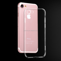 2016 Hot Sale ultra slim Transparent cell phone TPU case back cover for iphone 7 plus 5.5 inch