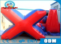 Lanqu PVC inflatable speedball bunker inflatable paintball field
