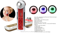 4 in 1 multifunctional Photon-Ultrasonic-Ionic-Vibrate beauty Appliance Red/ Gold color optional