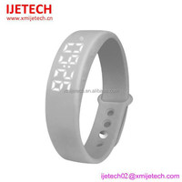 water resistant silicone led usb port bracelet watch for women