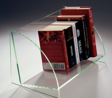 2017 hot selling creative acrylic desktop open book display/ retail book display