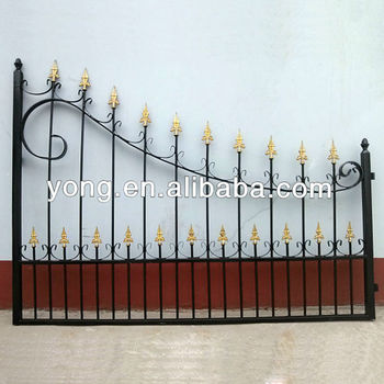 Villa residence handmade wrought iron garden main gate designs
