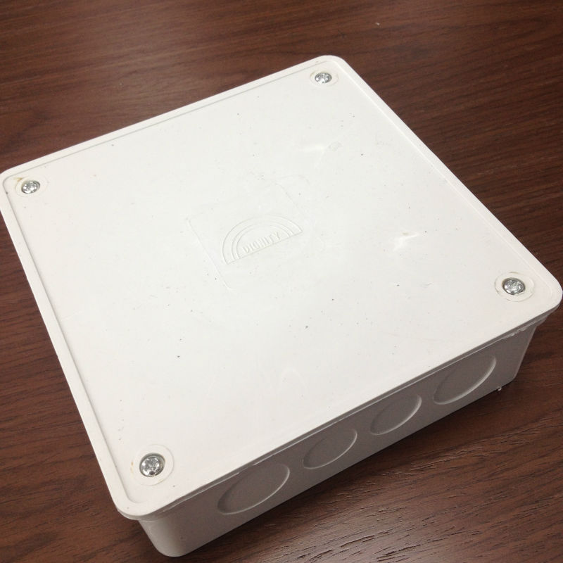 Pvc Electrical Boxes : Quot x inch electrical pvc junction box with cover