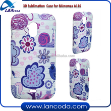india cheap 3D sublimation mobile phone case for Micromax A116,3d vacuum heat press machine heat transfer film sublimation mold
