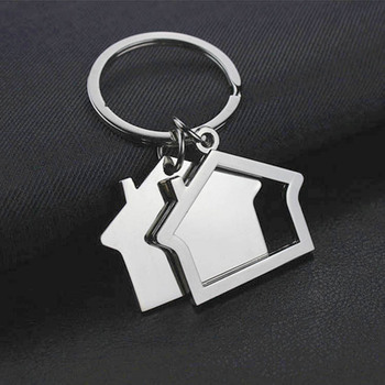 custom logo promotional house shaped keychain