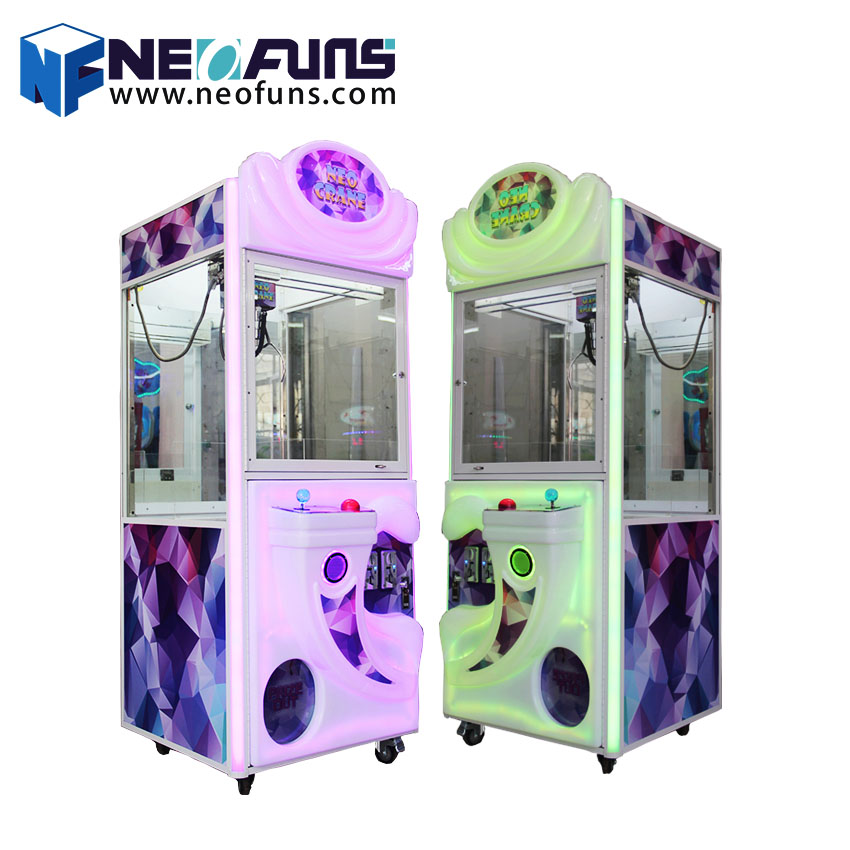 Hot in entertainment place coin operated arcade prize toy catcher claw game machine