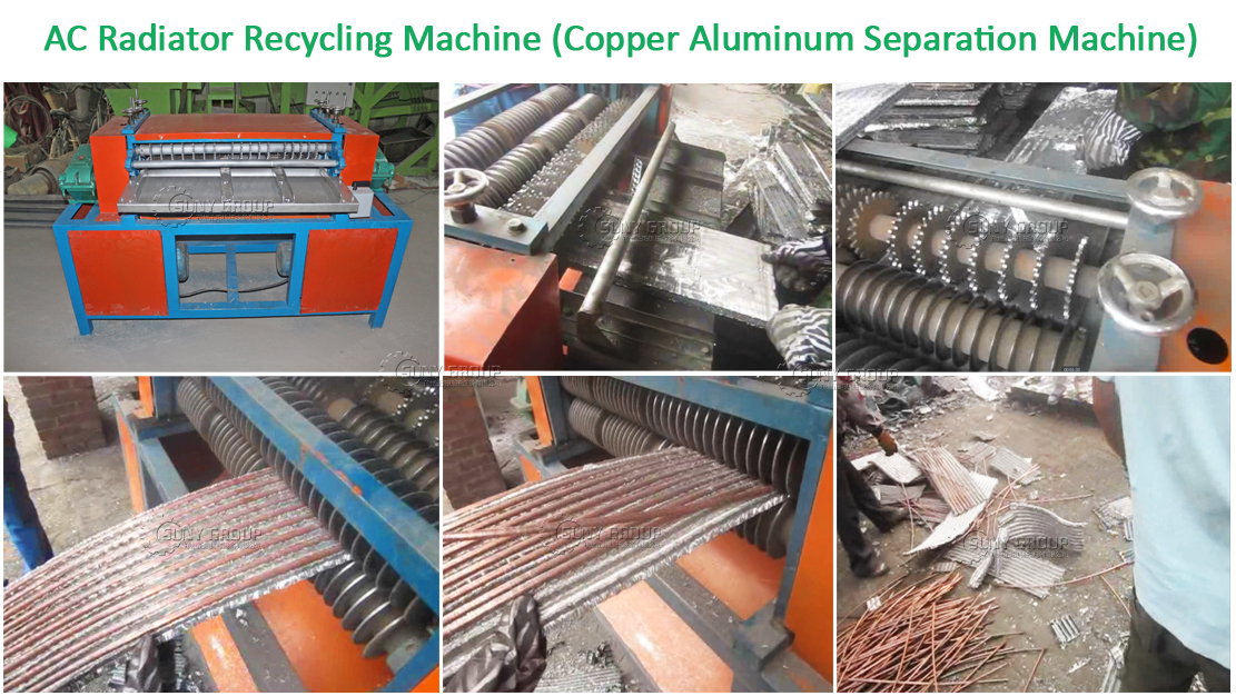 Hot Sale AC Recycling Machine Copper and Aluminum Separate Radiator Machine