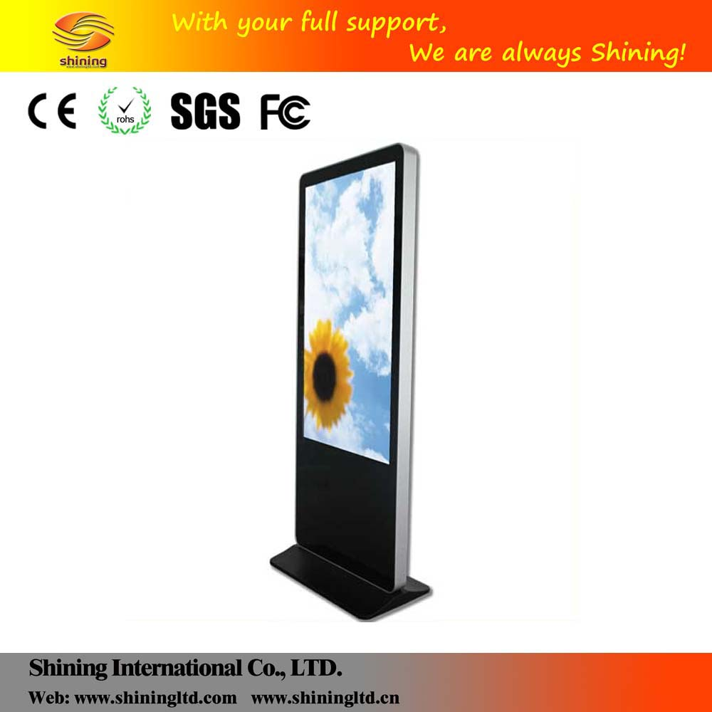Hot sale 46 inch full hd digital signage vertical lcd panel stand advertising display SH4675HD