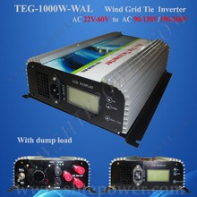 22V-60V Full Protection 3 Phase Grid Tie Inverter with Dump Load Resitor, Wind Inverter AC to AC 1000 W