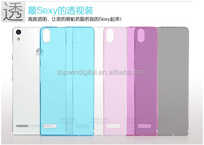 Hot Selling Imak Cute Soft TPU Case For Huawei Ascend P6