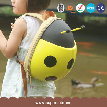 ladybug shape backpack yellow for kids
