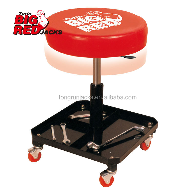 Pneumatic Car Creeper Seat with Steel With Tray Creeper Seat Lifting Range 120mm TR6201