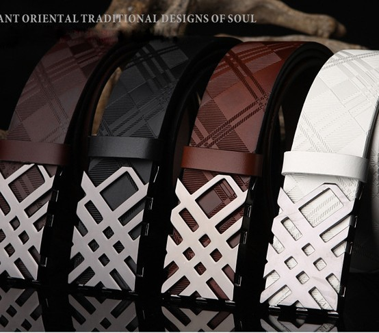 Famous Brand Name High Quality Real Genuine Leather Belt, Belts for Men