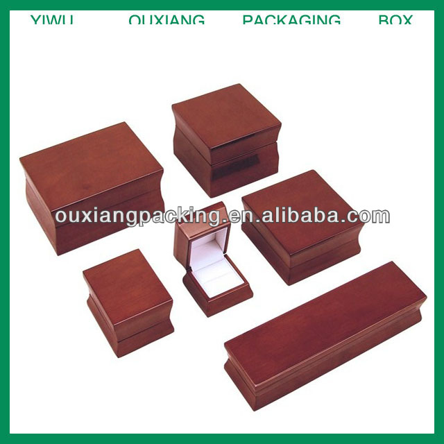Luxury Glossy Packaging Wooden Jewelry Box/jewelry packaging