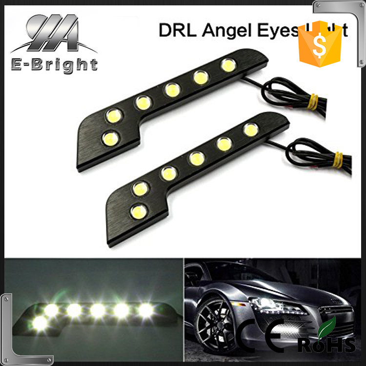 2pcs/set 6W 6LED High Power Universal Car Day Running Lights Turn Signal DRL ,drl led for m-ercedes