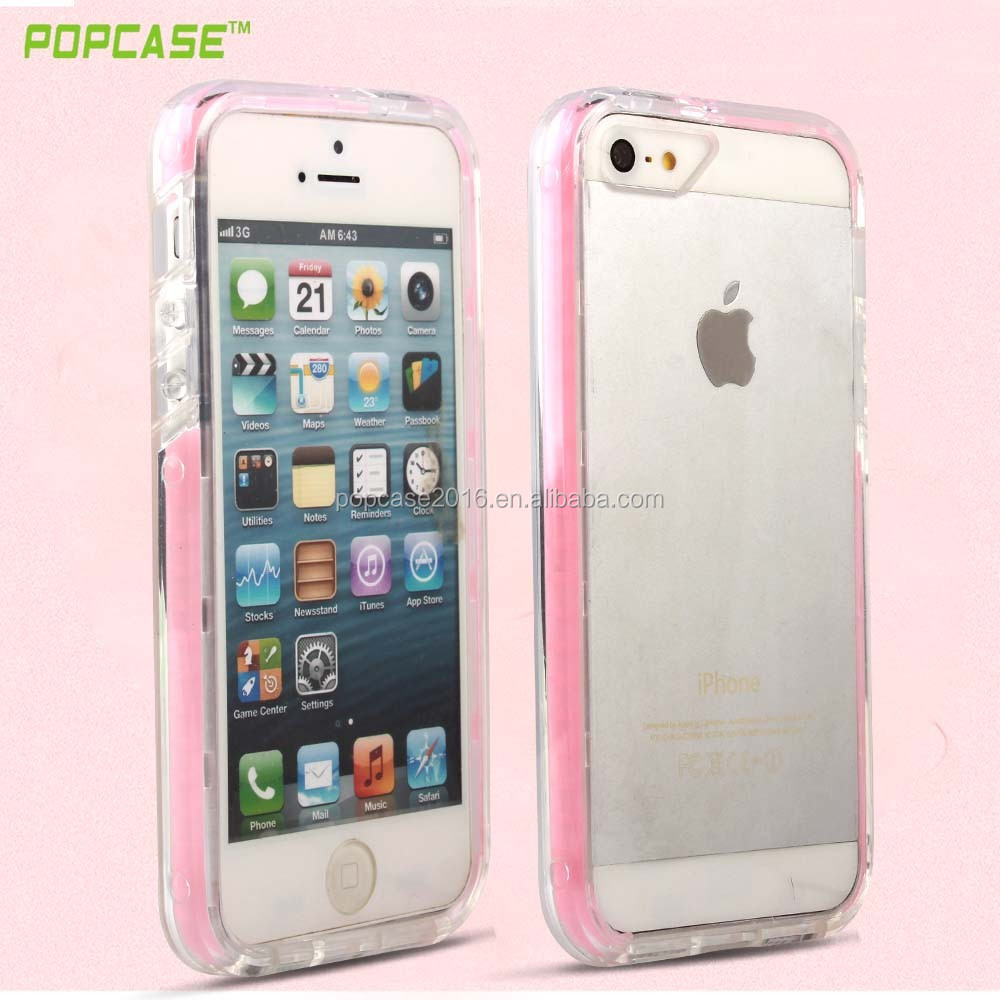 Factory price tpu+pc+silicone plastic moblie phone case for iphone5/5s/se