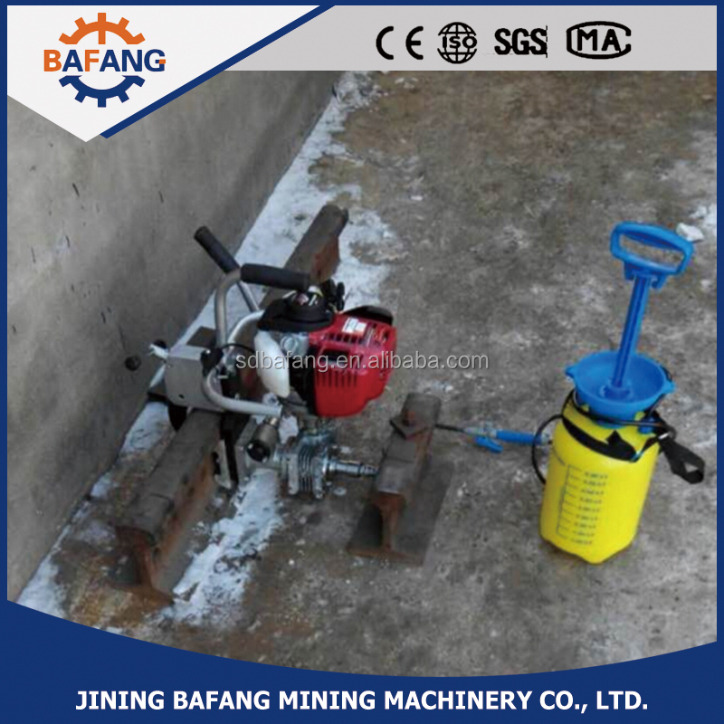 Gasoline internal combustion rail drill machine for steel railroad track