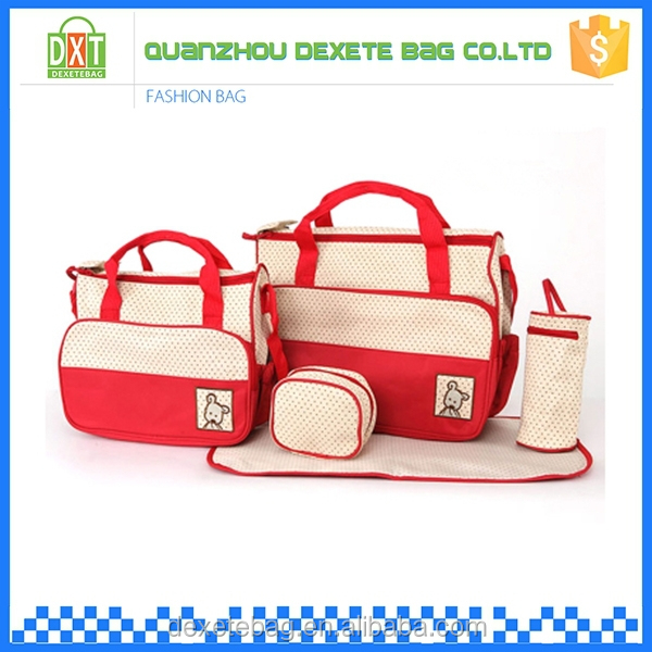 Microfiber fashion adjust shoulder diaper changing bag