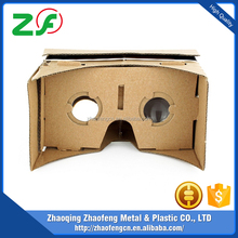 2017Newest virtual reality 3d glasses gloogle cardboard vr 2, vr box gloogle cardboard