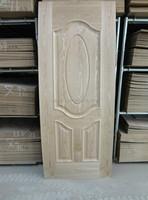 3mm veneer faced hdf designed door skin from FACTORY
