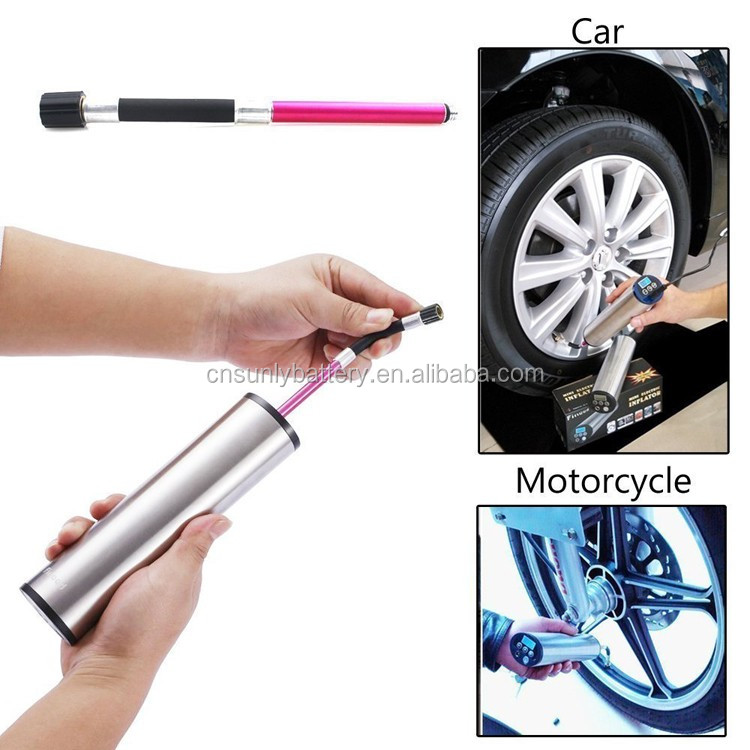 rechargeable 12V Car portable car tire inflator nitrogen tire inflator