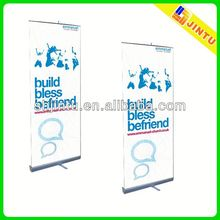 custom bamboo roll up banner stand with digital printing