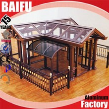 Baifu foshan brown aluminum glass sunlight room