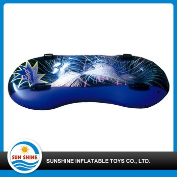 stylish strengthened pvc inflatable two seat snow tube covered fabric