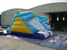 2016 Cheap Commercial Shark Giant Inflatable Water Slide For Kids